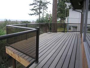 Wind walls for decks